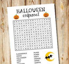 Halloweeninspirerat ordpussel 1   Gratis printables att skriva ut till Halloween