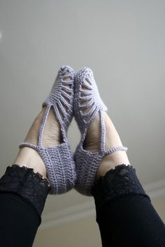 Free Shipping Silver Grey Slippers Mothers Day Gift by denizgunes
