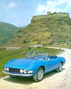 1968 Fiat Dino 2000 Spyder, Blue in Color. Vintage Cars, Antique Cars, Vintage Stuff, Automobile, Fiat 124 Spider, Fiat Abarth, Cabriolet, Ferrari Car, Steyr