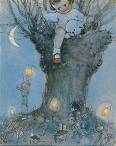TOMMY SPENDS THE NIGHT IN THE TREE By Mabel Lucie Attwell