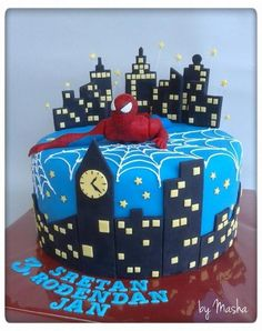 Spiderman - Cake by Sweet cakes by Masha