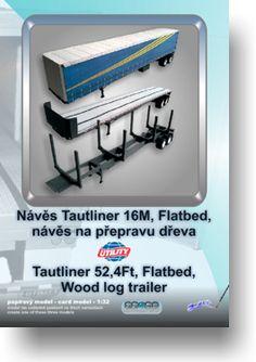 Papírový model - Návěs Tautliner 3v1