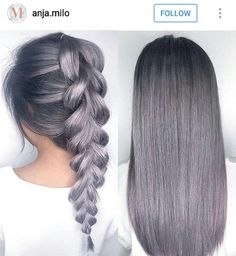 Grey purple hair dye idea