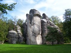 Adrspach Teplice rocks are rock formations, at least main part of them are natural. Rock Formations, Eastern Europe, Natural World, Bouldering, Geology, Land Scape, Mount Rushmore, At Least, National Parks