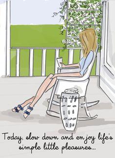 Porch Sitting   Inspirational Art    by RoseHillDesignStudio