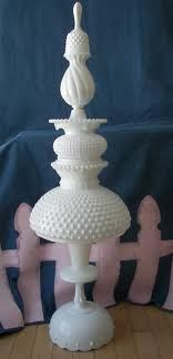 milk glass whimsy ♥ I like this, but is it permanently glued? Not sure how I feel about it if the pieces are perfect.