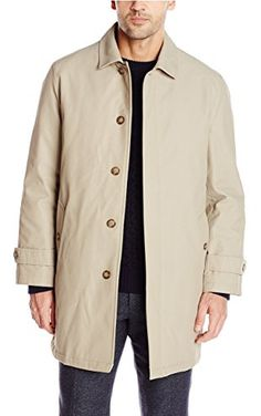 Tommy Hilfiger Men's Leone Rain Coat, Tan, 44/Large ❤ Tommy Hilfiger Mens Outerwear Child Code
