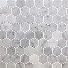 Marble Mosaic - Elegance Collection - Italian Carrara White Hexagon