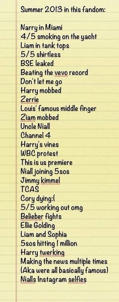 Summer 2013... Repin if you survived! But Niall joining 5SOS was the best thing.