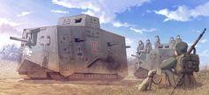 Las Cosicas del Panzer — enrique262:   German Empire, A7V tank.