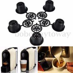 5 in 1 Coffeeduck Nespresso Espresso Wiederbefüllbare Kapseln Modelle mit Löffel in Feinschmecker, Kaffee, Tee & Kakao, Kaffee-Pads | eBay