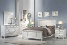 Discover the best coastal bedroom furniture sets for a beach home. Browse beach bedroom furniture sets like beds, headboards, dressers, and nightstands. Ikea Bedroom Sets, Buy Bedroom Set, White Bedroom Set, Cheap Bedroom Furniture, Master Bedroom, King Bedroom, Bedroom Ideas, Furniture Decor, Kitchen Furniture
