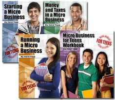 Microbusiness book set by Carol Topp, CPA - She is in Cincinnati and provides workshops for homeschool support groups, entrepreneur groups, etc.