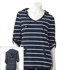 SONOMA life + style Striped Roll-Tab Hooded Top, $20 from Kohls.com.