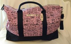 NEW WITH TAGS VICTORIA'S SECRET Love Angel Luggage Tote Weekender Bag WITH STRAP #VictoriasSecret #ToteBag