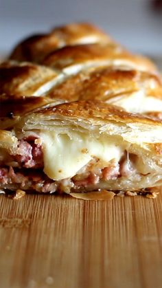 Braided Puff Pastry Braided Puff Pastry,Tastemade Recipes Braided Puff Pastry recipe appetizers and drink pastry recipes cabbage rolls recipes cabbage rolls polish Easy Dinner Recipes, Breakfast Recipes, Easy Meals, Dessert Recipes, Snacks Recipes, Good Food, Yummy Food, Tasty, Football Food
