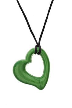 Miller Heart Zest is a solid, yet flexible #chew alternative for those with a need to chew.  Can be removed from the cord to act as a great #fidget too.  www.chewigemusa.com