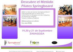 Recta final para nuestro #curso #Pilates #Springboard #EVO-T Nivel 1 en #Zaragoza. ¡Reserva tu plaza ya mismo!