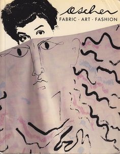 Ad for scarves by husband and wife Zika and Lida Ascher, the duo who would produce and provide printed and woven patterns for Balenciaga, Pierre Cardin, Dior, Givenchy, and Yves Saint Laurent among others.