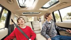 Ford Flex interior with moon roof - front and back. Tons of space!