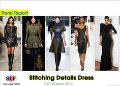 Stitching Details #Dress #Fashion Trend for Fall Winter 2014 #Fall2014 #Fall2014Trends #FashionTrends2014