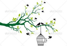 I could do just a branch, and incorporate my other tattoo into that space. I love the birds and birdcage.