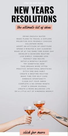 Ultimate List of New Year's Resolution Ideas - - The best New Year's resolutions are the ones you can actually keep. Discover small, meaningful, and (most importantly) doable goals for the upcoming year. New Year Goals, New Year New Me, New You, Happy New Year, Good New Year's Resolutions, Year Resolutions, Quotes About New Year, Year Quotes, Easy Scholarships