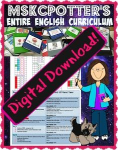 Entire English Curriculum (Common Core Aligned)! All the work is done for you!