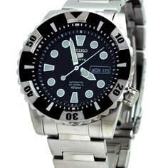 Seiko 5 Sports Automatic Men's Diver's Watch SNZJ13K1 SNZJ13 $155