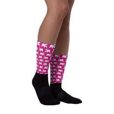 Pug Socks - Pug Puppie Socks - Dog Socks - Puppie Socks - Pink Pug Socks