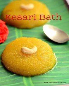 How to make Kesari bath recipe - Karnataka. Indian Dessert Recipes, Indian Sweets, Indian Recipes, South Indian Snacks Recipes, Sundal Recipe, Navratri Recipes, Clarified Butter Ghee, Bath Recipes, Roasted Cashews