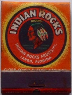 Indian Rocks Fruits #frontstriker #matchbook - To design and order your logo'd #matches GoTo: www.GetMatches.com or call 800.605.7331 Today!