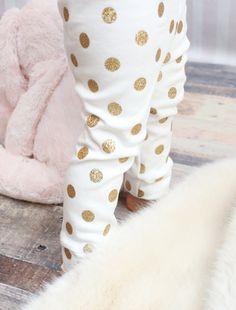 0afac56851e Bottoms in Girls  gt  Clothing - Etsy Kids Polka Dot Leggings