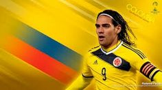 Radamel Falcao of Colombia. 2014 World Cup Finals card.