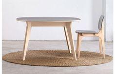 Table de Repas Ronde à Rallonge MIKADO Design Nadia Arratibel Ondarreta - profil rallonge