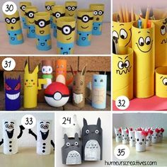 Find more than 80 ideas for crafts for kids to make with rolls of toilet paper. favorite characters, animals, vehicles, motor games and more! Halloween Crafts For Kids, Crafts For Kids To Make, Spider Crafts, Paper Roll Crafts, Toilet Paper Roll, Animal Design, Craft Activities, Crafty, Rolls