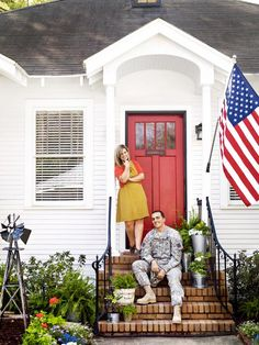 Operation Fixer-Upper: HGTV Magazine features a sergeant's special homecoming -- a beautiful house his wife updated and furnished with thrifty finds.