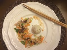 Vietnamese salad with chicken 1. Cut carrot, onion and cabbage in thin ...