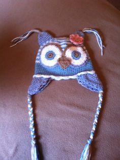 crochet infant owl hat