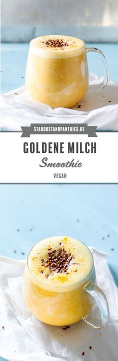 Goldene Milch (Kurkuma Latte) Smoothie A vegan Golden Milk Smoothie provides you with anti-inflammatory substances – perfect for on the go and in between, when you need a little energy boost for your immune system! Healthy Smoothie, Keto Smoothie Recipes, Vegan Keto Recipes, Vegetarian Keto, Smoothie Bowl, Paleo, Keto Foods, Diet Recipes, Curry Verde