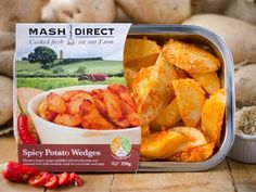 SPICY POTATO WEDGES- Handcut potato wedges sprinkled with breadcrumbs and seasoned with chilli marinade ready for you to bake and enjoy! #mashtag #mashdirect #potato #wedges http://www.mashdirect.com/spicy-potato-wedges