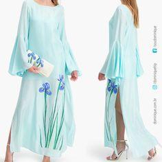 Pelo que entendi, essa é a primeira coleção da holandesa @malachettyofficial , ela usa seda importada do Vietnã e tingida a mão de maneira artesanal. AMEI esse modelito. #moda #moda50 #estilo #estilo50 #fashion #fashionover50 #kaftan #seda #Dyedsilk #malachetty