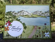 In the Meadow, Stampin Up @ My Tanglewood Cottage Art Impressions Stamps, Stamping Up Cards, Watercolor Cards, Watercolor Painting, Animal Cards, Sympathy Cards, Masculine Cards, Greeting Cards Handmade, Homemade Cards