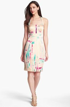 Jessica Simpson Print Halter Pencil Dress available at #Nordstrom    MUST HAVE!