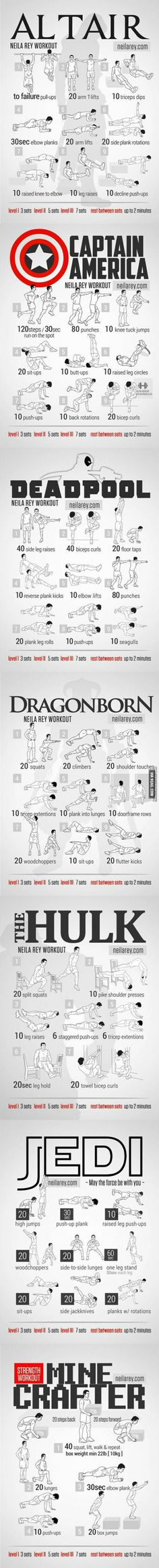 My work out guide this summer