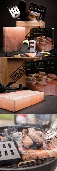 Grilling steak on a salt block from the Himalayas? This sounds awesome!
