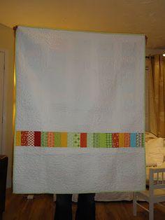 Reverse of Oli's birthday quilt