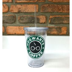 Harry Potter Starbucks Inspired Hogwarts Coffee with Lightning Scar... ($12) ❤ liked on Polyvore featuring home and kitchen & dining