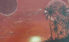 Fantasy planet     watercolour