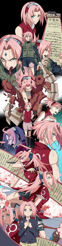 Sakura Haruno Same as the other two of Naruto and Sasuke that I reposted Sasuke Sakura, Naruto Uzumaki, Gaara, Anime Naruto, Hinata, Naruto Girls, Naruto And Sasuke, Itachi, Manga Anime